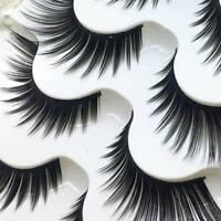 5 Pairs 100% Real Mink 3D Volume cn Eyelashes Strip Thick False Corner Lashes