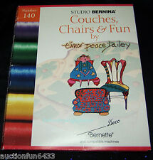 Studio Bernina embroidery Card  140 Couches, Chairs & Fun ,Brother,Baby lock