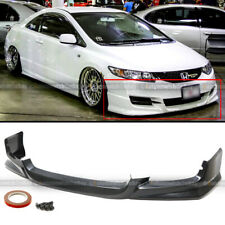 Fit 09-11 Honda Civic 2Dr Coupe Pu Hfp Style Front Bumper Lip Spoiler Bodykit