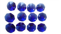 50 Cobalt Blue Octagon Chandelier Crystal Lead Crystal Beads Octagons