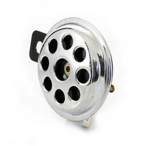 12V Bike Klaxon Small Chrome Horn Disc 65mm for Car Cab Motorbike Motorcycle ATV