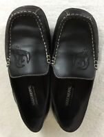 Skechers Lifestyle Brand 92 Men's Brown Leather Loafers Shoes US Size 4.5