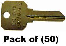 (50) Kaba Ilco # DND-SC1 Brass Finish Do Not Duplicate Key Blanks for Schlage