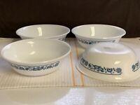 Set of 4 Corelle OLD TOWN BLUE ONION 11oz Soup/ Cereal Bowls