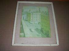 Vintage National Art Gallery of N.S.W. print William Dobell Street Scene Pimlico