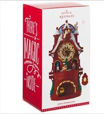 Santa's Christmas Clock NEW 2017 Hallmark Magic Musical Motion Tabletop FREESHIP