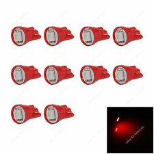 10pcs Red T10 W5W 1SMD 5050 LED Car Clearance Lamp Roof Light Reading Bulb 12V