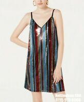 As U Wish Juniors' Sequin Tank Dress - Multi colour party dress - L UK 14