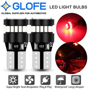 2x T10 21SMD4014 Red LED Light Bulb Parking Break Light 192 168 194 W5W 2825 158