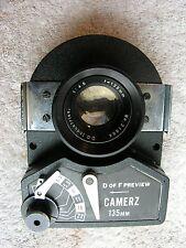 CAMERZ 135mm f 4.5 LENS & SHUTTER ~ D.O. Industries ~ Nice Glass 1:4.5 f=135mm