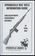 Copy* Springfield Armory M1A Rifle Information Guide & Illustrated Parts List