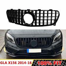 Front Racing Chrome Black GT Grills Billet Bumper Grille Cover For Mercedes GLA