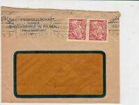 czechoslovakia 1924 stamps cover ref 21000