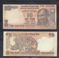 INDIA, MAHATMA GANDHI, 10 RUPEE, NOTES,CURRENCY,PAPER MONEY,LION AT BACK