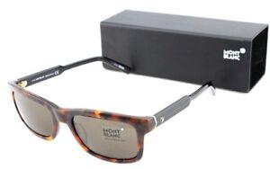 RARE NEW Genuine MONT BLANC Havana Brown Black Sunglasses MB653S 52E MB 653S/S