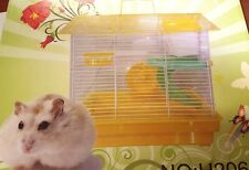 Hamster Medium Cage Small Animal House Mouse  With Tubes Wheel Slides uk