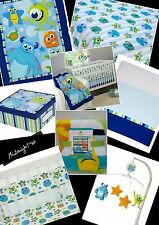 DISNEY MONSTERS INC BABY INFANT ON THE GO 7-PIECE BEDDING IN A BAG CRIB SET.