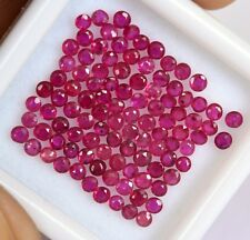 1.98Cts Natural Ruby Round Cut Calibrated 1.75 mm Lot 60 Pcs Red Pink Loose Gems