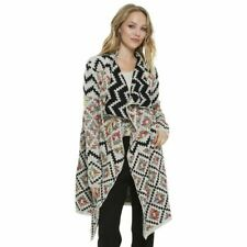Elan Womens Long Aztec Cardigan Multi Color S #NKUS3-1080