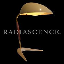 GERALD THURSTON LIGHTOLIER ATOMIC MODERN PROFILE CRICKET SHADE TABLE LAMP 1955