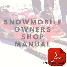 Yamaha 1971 SL338B 1971 SW396 Owner's Service Snowmobile Manual