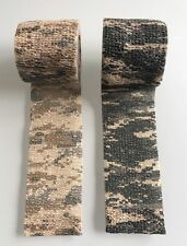 Lot de 2 Bande Strap Stretch Fixation Camouflage Camo Airsoft Paintball