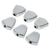 6pcs Guitar Tuning Buttons Machine Head Tuner Tulip Buttons Chrome Metel