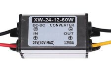 IMPERMEABILE 24v (14-40v) a 12v 5a 60w DC/DC Convertitore Regolatore Strumento-UK Venditore