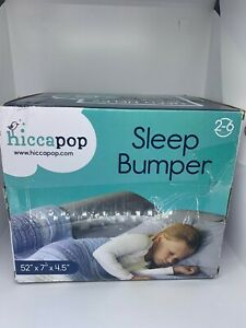 """Hiccapop Sleep Bumper Bed Rail 2-6 years 52"""" x 7"""" x 4.5"""" Fits Under Fitted Sheet"""
