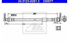 ATE Tubo flexible de frenos MERCEDES-BENZ CLASE S E A C SL SLK 24.5123-0281.3