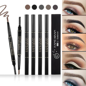 Waterproof Makeup Eyebrow Pencil Fork Tip Tattoo Long Last Eyebrow Liner 5 Color