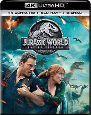 JURASSIC WORLD FALLEN KINGDOM(4K ULTRA HD+BLU-RAY+DIGITAL)W/SLIPCOVER NEW