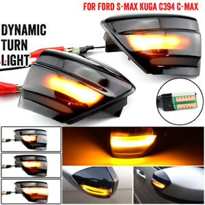 For Ford Kuga C394 08-12 S-Max C-MAX Dynamic Turn Signal Light Side Mirror Lamp
