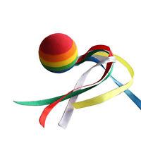 Toppers de antena de coche Bola de arco iris Bolas de antena de cinta de color#