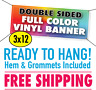 3' x 12' Custom Full Color Vinyl Banner Double Sided - FREE SHIPPING