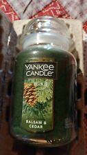 YANKEE CANDLE 22oz Large Jar - Balsam & Cedar - Green