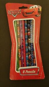 Disney Pixar Cars 8 Pack of #2 Pencils Set New/Sealed No.2 Pencils School 2005