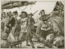 Opium Wars Chinese Officers Royal Navy Classic Art Print 7x5 inches