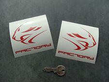 2x stickers moto APRILIA Factory 90mm Rouge decal pegatinas Ref: A262-027