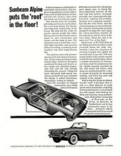 "1962 1963 Sunbeam Alpine vintage ad - ""Puts the Roof in the Floor!"" original"