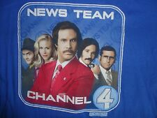Anchorman News Team Channel 4 T Shirt Adult 2XL Free US Shipping