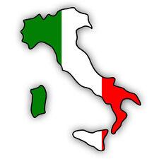 """Auto Aufkleber ITALIEN Italy """"Italia"""" Decal Sticker 11cm (4.3"""") konturg. die-cut"""
