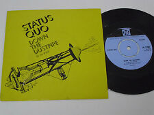 "STATUS QUO Down the Dustpipe -1970 PORTUGAL 7"" single UNIQUE PICTURE SLEEVE rare"