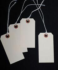 "50 Blank Manila Hang Tags w/ cords  ...  5-1/4"" x 2-5/8"""