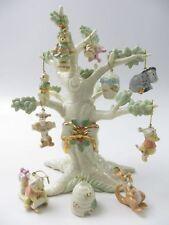 Lenox Disney Winnie the Pooh Christmas Ornament Tree And 10 Ornaments 2004