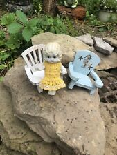 Antique Tiny Miniature Moveable Doll Bisque Porcelain Made In Japan 5 ""