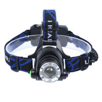 T6 LED Waterproof Headlamp,3 Modes Zoomable Flashlight,Super Bright Headlight