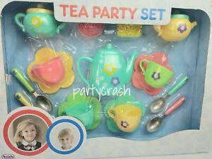Tea Party Play Set for Boys and Girls Kids Play Set Xmas Gift 17pcs Tea Set