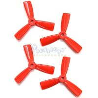 2 Pair Red 3045 Bull Nose Props 3-blade CCW CW Propeller for 130-155 Drones