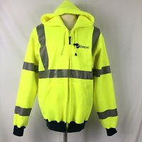 High Visibility Full Zip Hoodie Jacket Large Pepsi Employee Occunomix